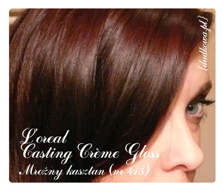 loreal casting creme gloss mroźny kasztan