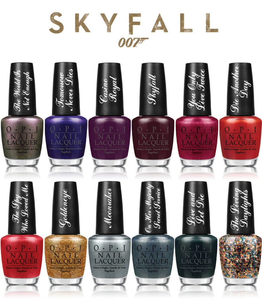opi nails 007 skyfall