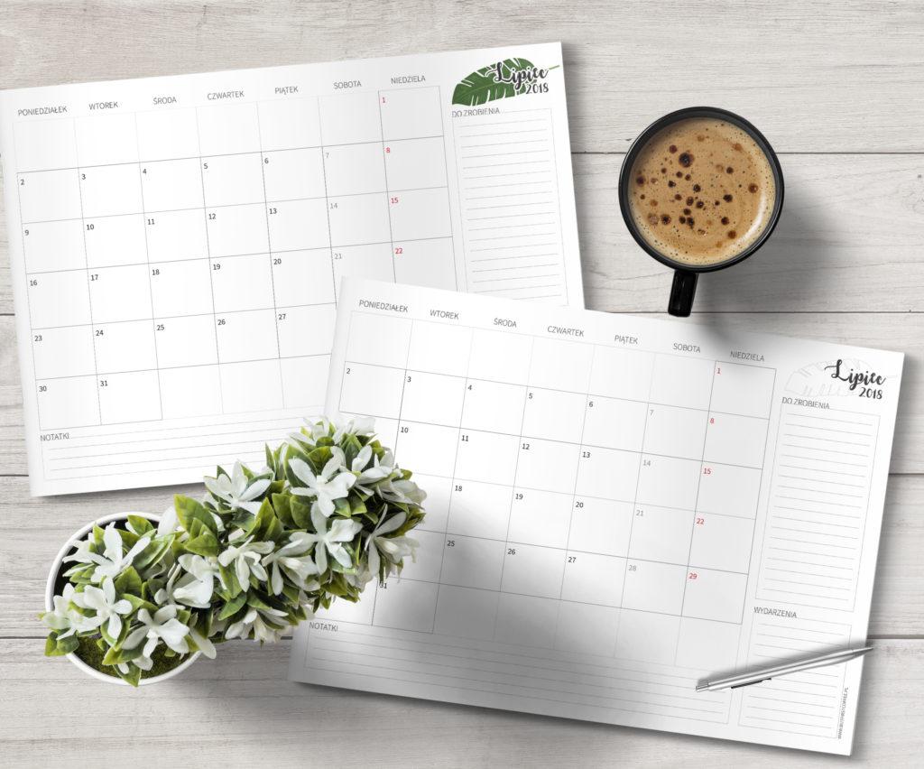 darmowy planner do druku, planner czerwiec 2018, planner june 2018, free printable planner