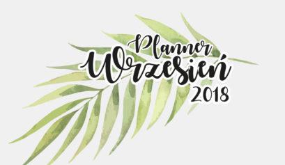 darmowy planner do druku, planner wrzesień 2018, planner september 2018, free printable planner